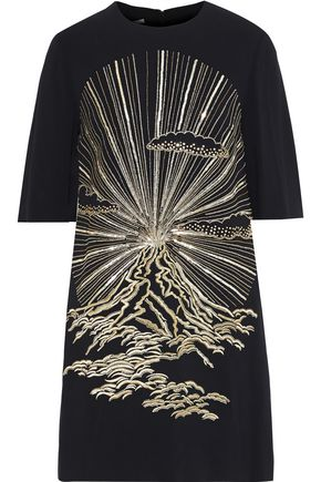 STELLA McCARTNEY Volcano embellished crepe mini dress