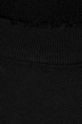 RTA Distressed French cotton-terry sweatshirt