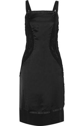 MAISON MARGIELA Lace-paneled sateen dress