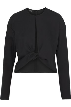 GIAMBATTISTA VALLI Twist-front cutout crepe top