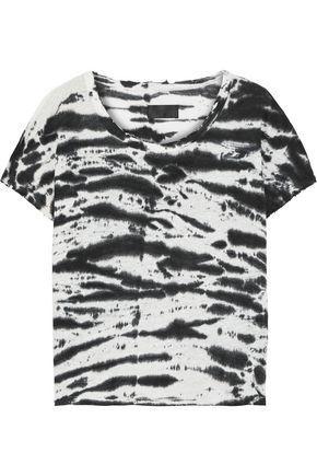 RTA Dawn tie-dyed linen-jersey T-shirt