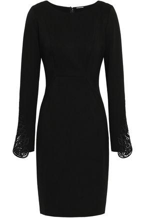 ELIE TAHARI Azura guipure lace and stretch-jersey dress