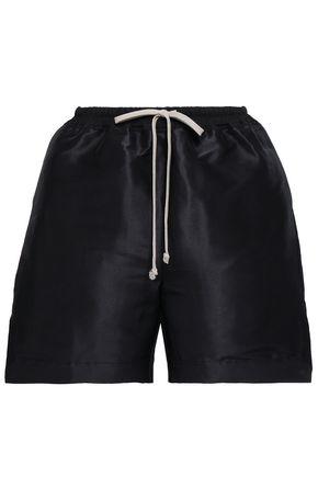RICK OWENS Silk-taffeta shorts