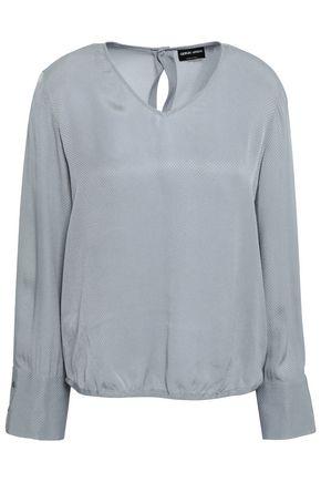GIORGIO ARMANI Silk-jacquard blouse