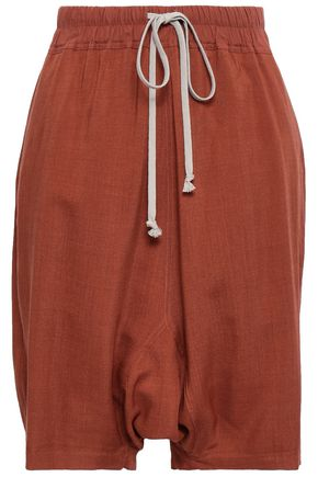 RICK OWENS Wool and silk-blend shorts