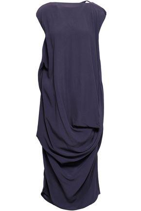 RICK OWENS Draped cady midi dress