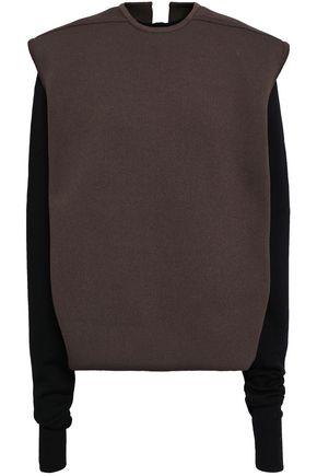 RICK OWENS Paneled stretch-knit sweater