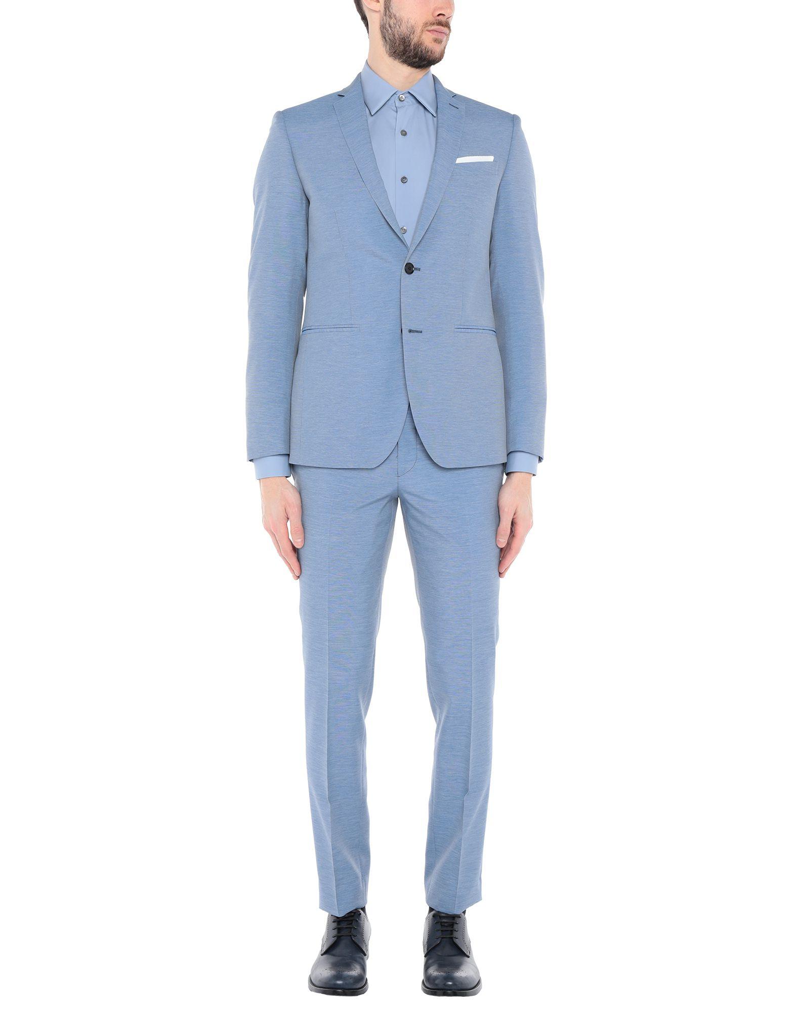 《セール開催中》CITY TIME メンズ スーツ スカイブルー 48 ポリエステル 100%