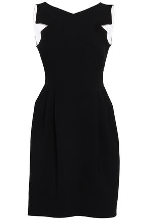 GIORGIO ARMANI Pleated crepe mini dress
