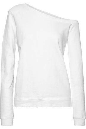 RTA Claudine one-shoulder French cotton-terry sweatshirt