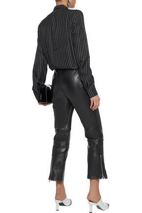 RTA Striped silk-twill shirt