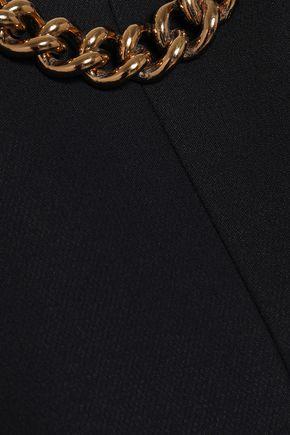 VICTORIA BECKHAM Chain-trimmed crepe mini dress