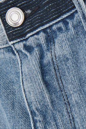RTA Ace distressed denim shorts