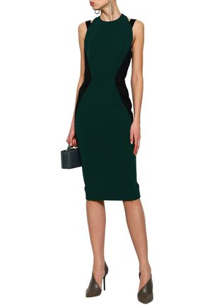 VICTORIA BECKHAM Cutout stretch-gabardine dress