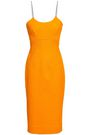 VICTORIA BECKHAM Waffle-knit cotton-blend dress