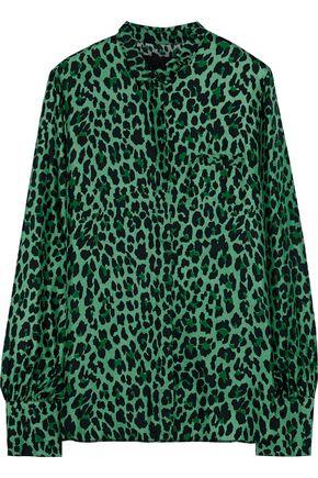 RTA Yvonne leopard-print silk-twill shirt