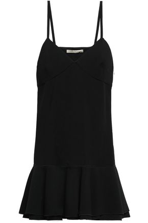 VICTORIA BECKHAM Fluted stretch-crepe mini dress