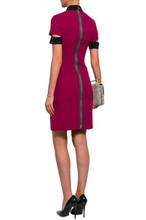 VICTORIA BECKHAM Cutout wool and silk-blend crepe mini dress