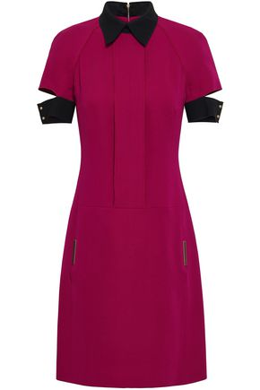 VICTORIA BECKHAM Cutout wool and silk-blend crepe mini dress