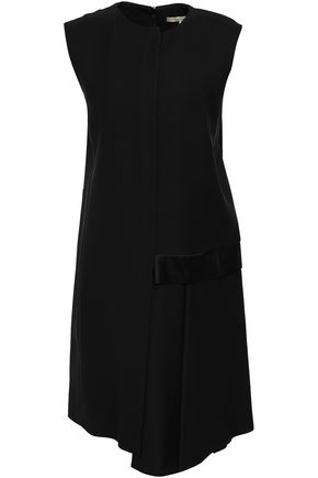 VICTORIA BECKHAM Flared satin and crepe mini dress
