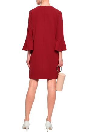 TIBI Fluted crepe mini dress