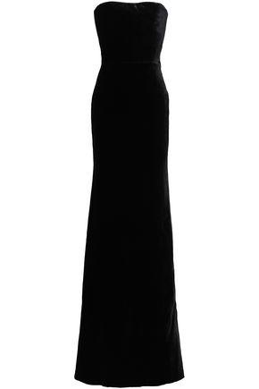 VICTORIA BECKHAM Strapless velvet gown