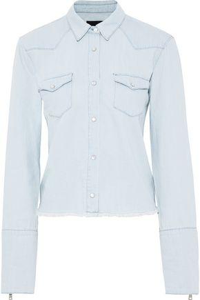 RTA Ashley frayed denim shirt