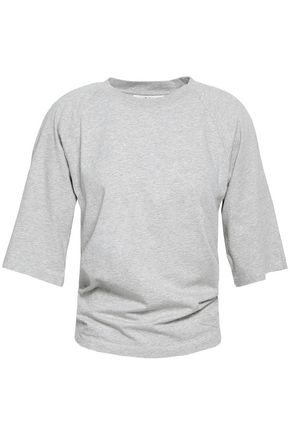 TIBI Mélange cotton-jersey T-shirt
