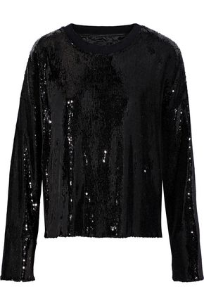 RTA Emmet sequined stretch-knit top
