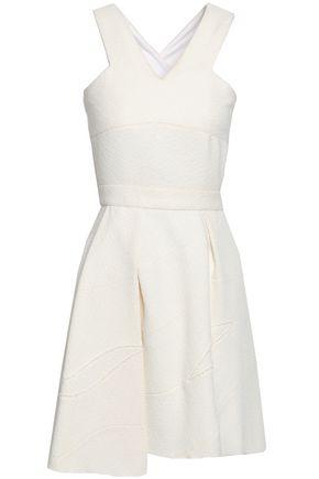 VICTORIA BECKHAM | Victoria Beckham Asymmetric Flared Bouclé Mini Dress | Goxip