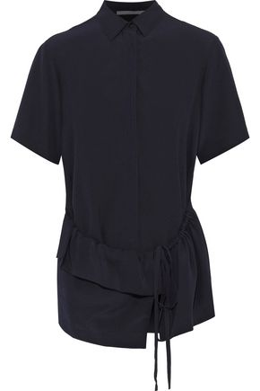 STELLA McCARTNEY Gathered ruffled silk crepe de chine shirt