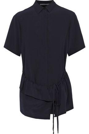 162af431e21c9 STELLA McCARTNEY Gathered ruffled silk crepe de chine shirt