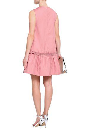 ROKSANDA Gathered cotton-poplin mini dress
