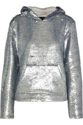 RTA Ainsley sequined cotton-blend hoodie