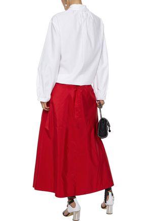 STELLA McCARTNEY Yael gathered cotton-poplin blouse