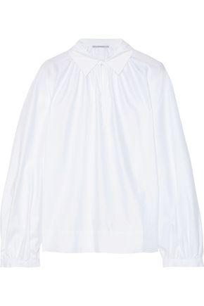 STELLA McCARTNEY Yael gathered cotton-poplin blouse f6e18f9b3