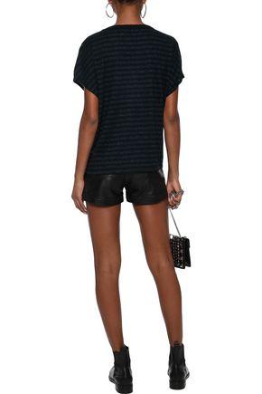 RTA Glittered zebra-print cotton and cashmere-blend T-shirt