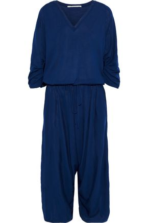 STELLA McCARTNEY Cropped gathered wool-jersey jumpsuit