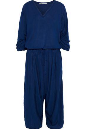 STELLA McCARTNEY Cropped gathered wool-jersey jumpsuit
