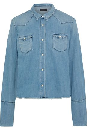 RTA Ashley frayed denim shirt