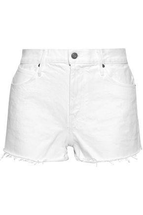 RTA Ace frayed denim shorts