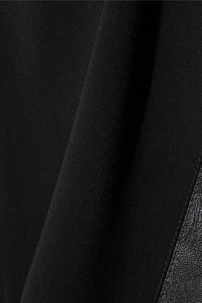 STELLA McCARTNEY Kira faux leather-paneled stretch-cady top