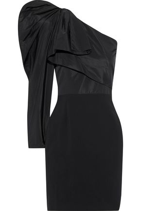 STELLA McCARTNEY One-shoulder duchesse-satin and cady mini dress