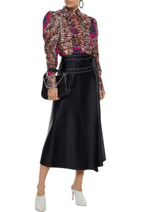 STELLA McCARTNEY Shaylee ruffle-trimmed printed cotton-poplin blouse
