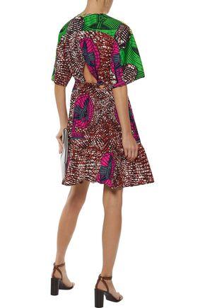 STELLA McCARTNEY Saniya flared cutout printed cotton dress