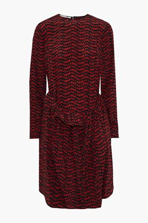 STELLA McCARTNEY All Is Love ruffle-trimmed printed silk crepe de chine dress