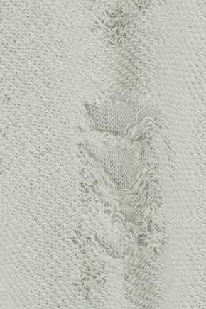 IRO Apie paneled distressed cotton-blend terry tank