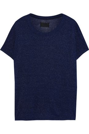 RTA Metallic stretch-knit T-shirt