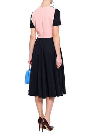 ROKSANDA Two-tone crepe midi dress