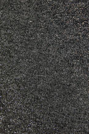 RTA One-shoulder metallic stretch-knit top